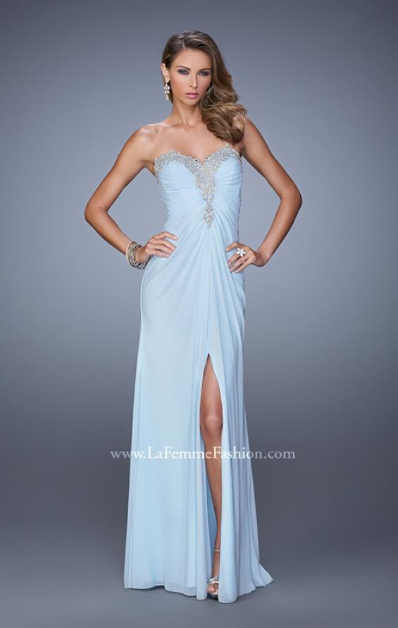 Picture of: Graceful Prom Dress with Ruching and Beaded Embroidery, Style: 21275, Detail Picture 1