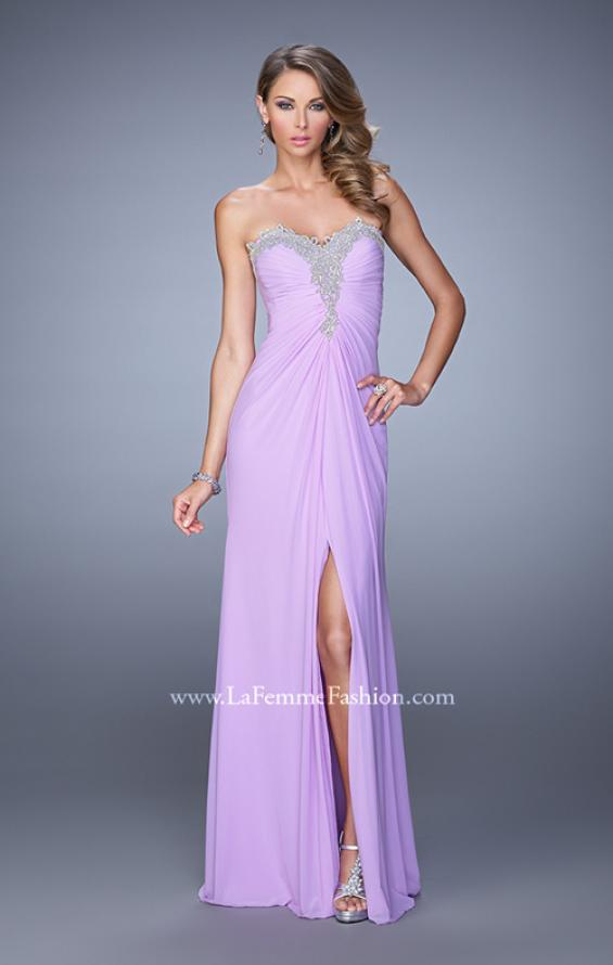Picture of: Graceful Prom Dress with Ruching and Beaded Embroidery, Style: 21275, Detail Picture 2