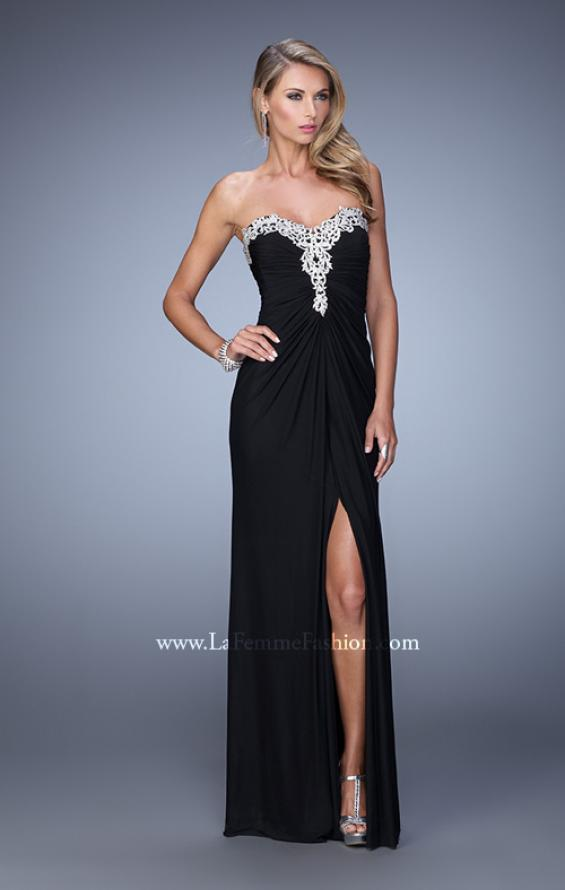 Picture of: Graceful Prom Dress with Ruching and Beaded Embroidery, Style: 21275, Detail Picture 3
