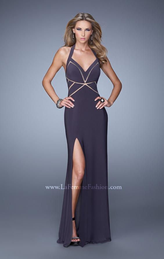 Picture of: Halter Long Jersey Prom Dress with Sheet Cut Outs, Style: 21282, Main Picture