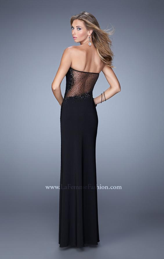 Picture of: Embellished Jersey Dress with Cut Outs and Sheet Netting, Style: 21299, Back Picture