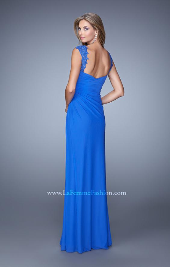 Picture of: Sweetheart Neck Prom Gown with Beaded Lace Detail, Style: 21310, Back Picture