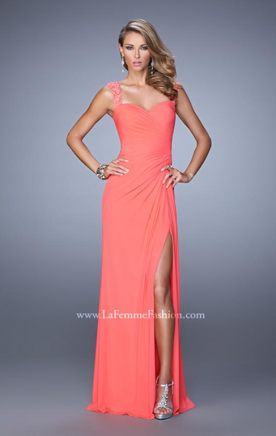 Picture of: Sweetheart Neck Prom Gown with Beaded Lace Detail, Style: 21310, Detail Picture 2