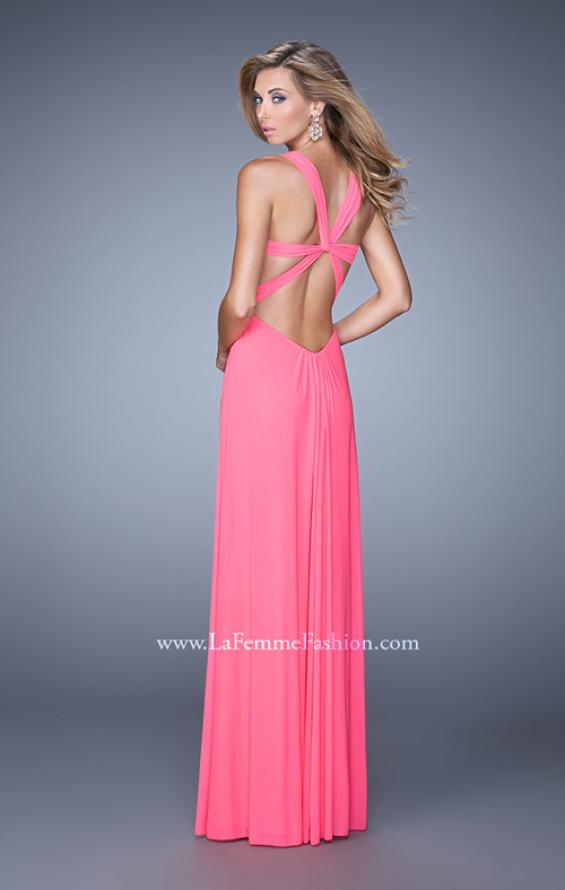 Picture of: Plunging Neckline Prom Gown with Gathered Bust, Style: 21330, Main Picture