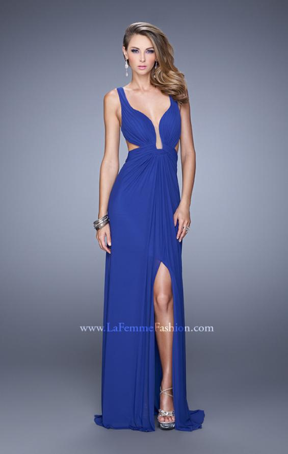 Picture of: Plunging Neckline Prom Gown with Gathered Bust, Style: 21330, Detail Picture 1