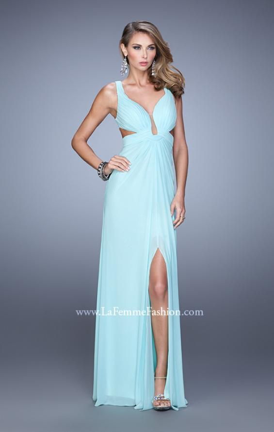 Picture of: Plunging Neckline Prom Gown with Gathered Bust, Style: 21330, Detail Picture 3