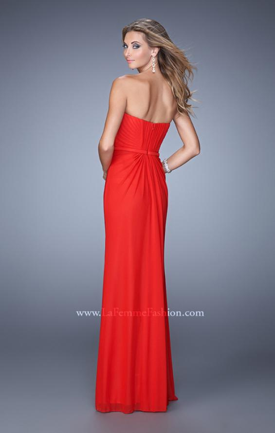 Picture of: Gathered Bodice Prom Dress with Sweetheart Neckline in Red, Style: 21343, Back Picture