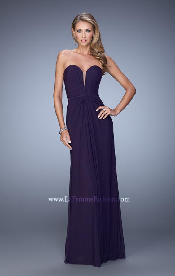 Picture of: Gathered Bodice Prom Dress with Sweetheart Neckline in Purple, Style: 21343, Detail Picture 2