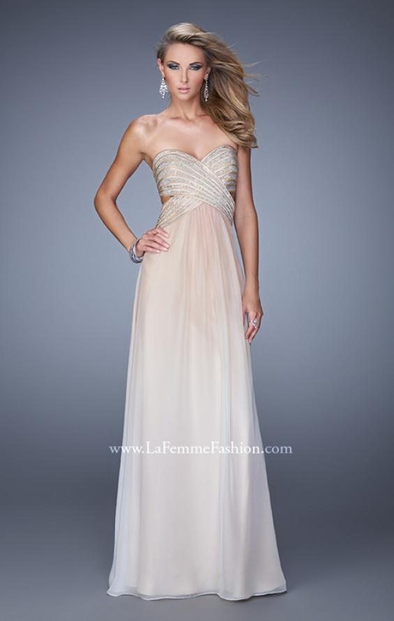 Picture of: Ombre Chiffon Prom Dress with Rhinestone Bodice, Style: 21351, Main Picture
