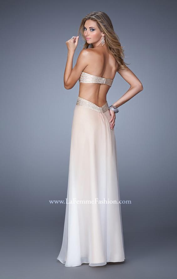 Picture of: Ombre Chiffon Prom Dress with Rhinestone Bodice, Style: 21351, Back Picture