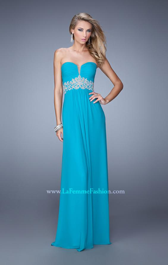 Picture of: Embroidered Waist Sweetheart Neck Long Prom Dress, Style: 21357, Main Picture