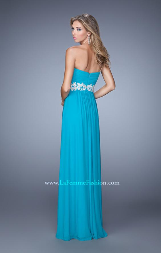 Picture of: Embroidered Waist Sweetheart Neck Long Prom Dress, Style: 21357, Back Picture