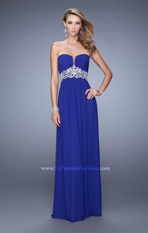 Picture of: Embroidered Waist Sweetheart Neck Long Prom Dress, Style: 21357, Detail Picture 1