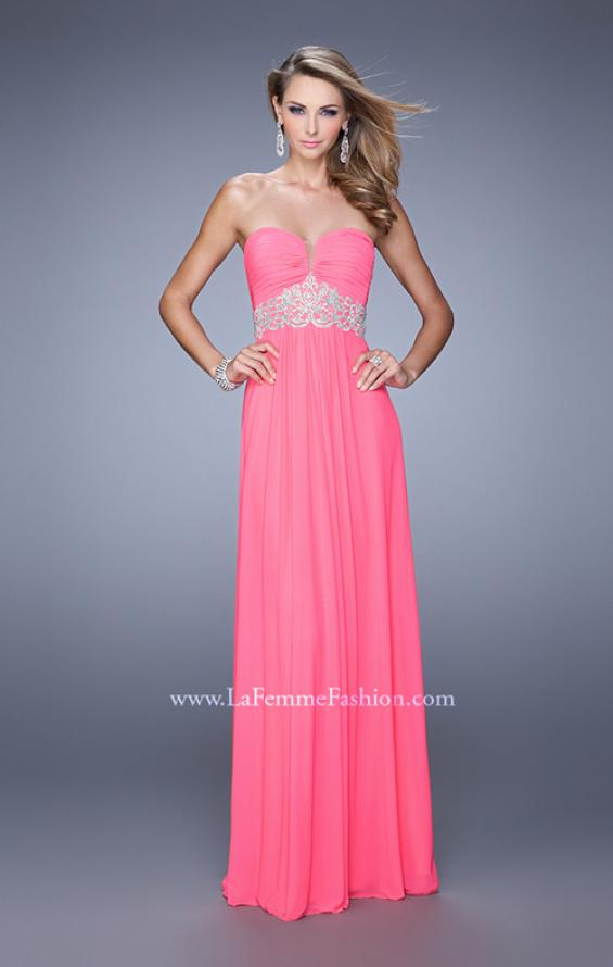 Picture of: Embroidered Waist Sweetheart Neck Long Prom Dress, Style: 21357, Detail Picture 2
