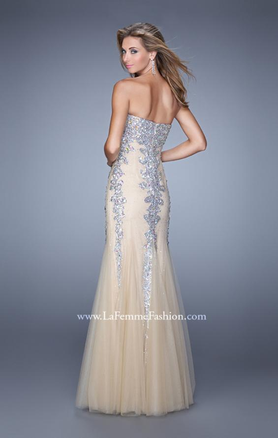Picture of: Tulle Mermaid Prom Dress with Sequins and Beads, Style: 21358, Back Picture