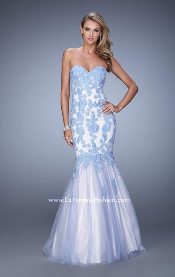 Picture of: Tulle Mermaid Prom Gown with Beaded Lace Straps, Style: 21369, Detail Picture 2