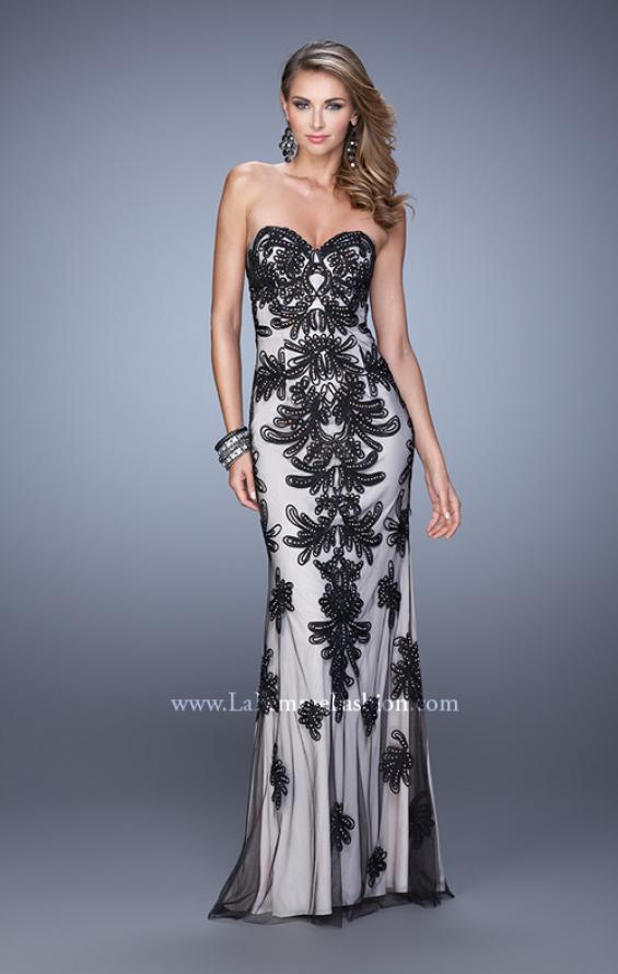 Picture of: Graceful Prom Dress with Embroidery and Rhinestones, Style: 21386, Detail Picture 1