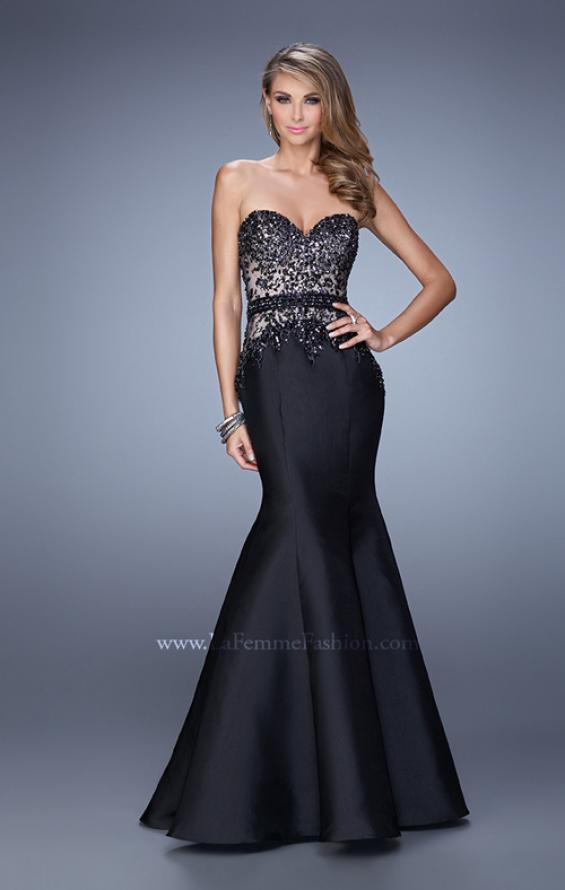 Picture of: Mermaid Prom Dress with Sequins and Belt, Style: 21410, Main Picture