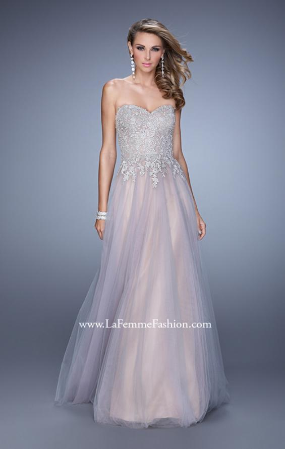 Picture of: Tulle Dress with Embroidered Bodice and Pockets in Pink, Style: 21431, Main Picture