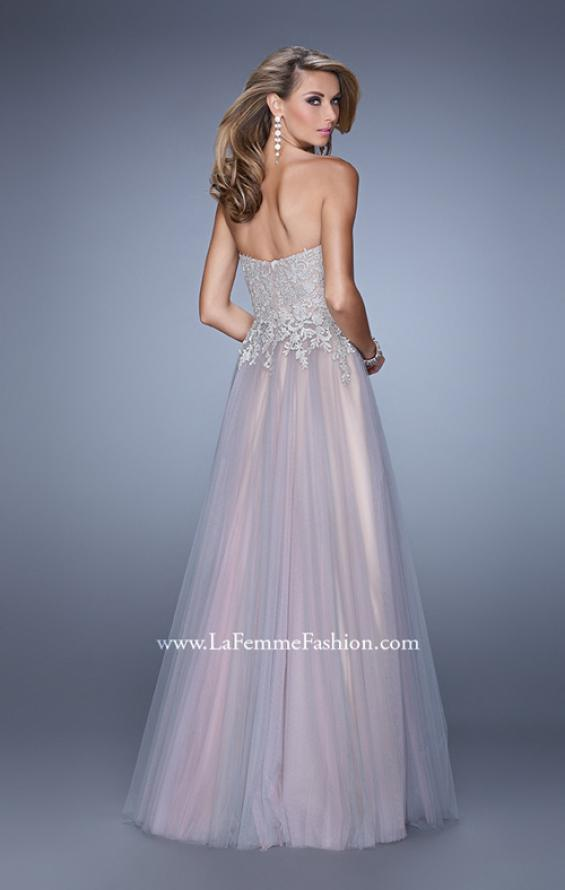 Picture of: Tulle Dress with Embroidered Bodice and Pockets in Pink, Style: 21431, Back Picture
