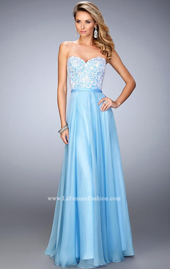 Picture of: Chiffon Prom Dress with Double Strap Back and Lace, Style: 21545, Main Picture