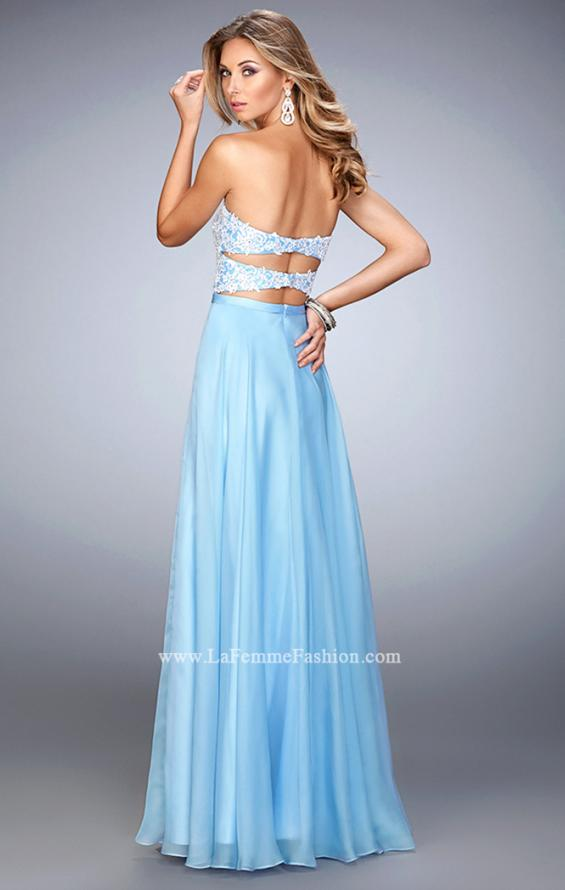 Picture of: Chiffon Prom Dress with Double Strap Back and Lace, Style: 21545, Back Picture