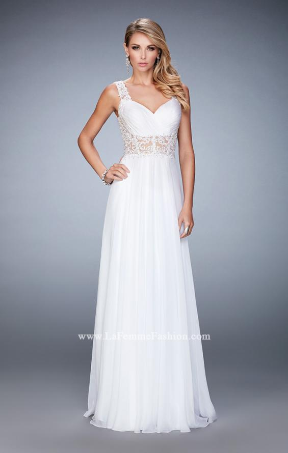 Picture of: Graceful Prom Dress with Pleated Sweetheart Neckline in White, Style: 21550, Main Picture