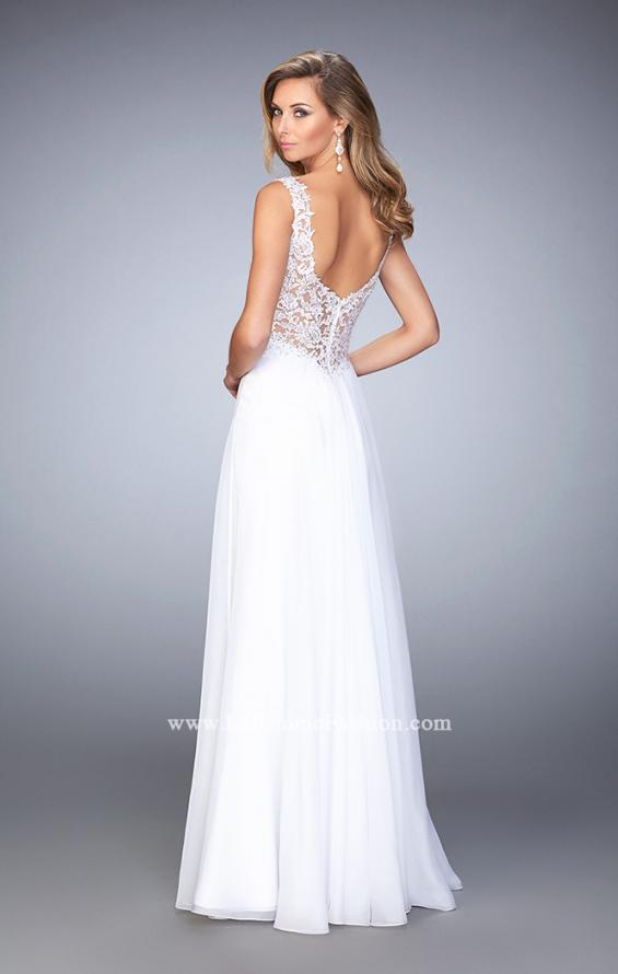 Picture of: Graceful Prom Dress with Pleated Sweetheart Neckline in White, Style: 21550, Back Picture