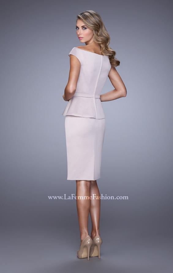Picture of: Off the Shoulder Cocktail Dress with Beaded Belt, Style: 21637, Back Picture