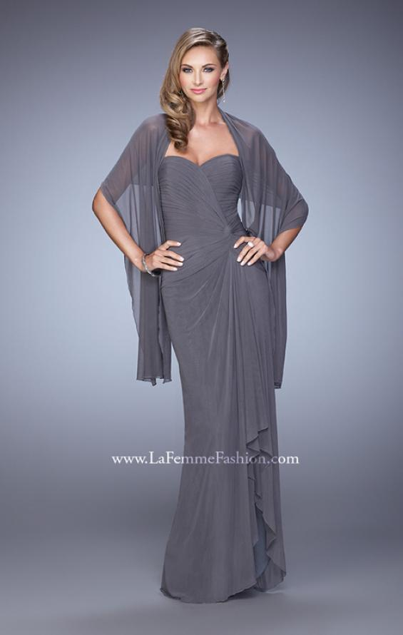 Picture of: Form Fitting Jersey Dress with Knot Detail and Ruffles, Style: 21645, Detail Picture 1
