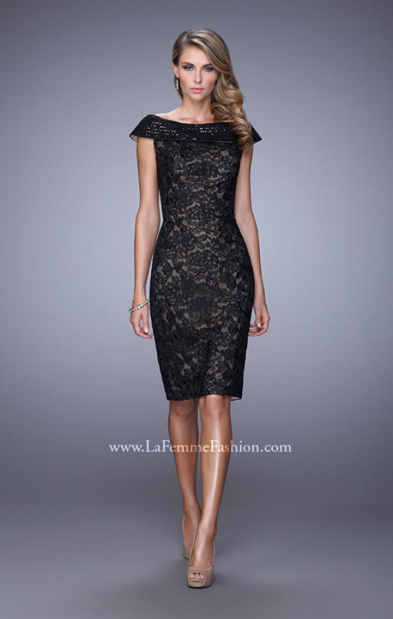 Picture of: Elegant Evening Dress with Sequins and Beading, Style: 21649, Main Picture