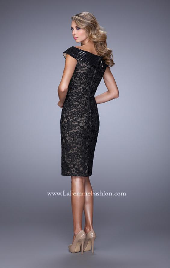 Picture of: Elegant Evening Dress with Sequins and Beading, Style: 21649, Back Picture