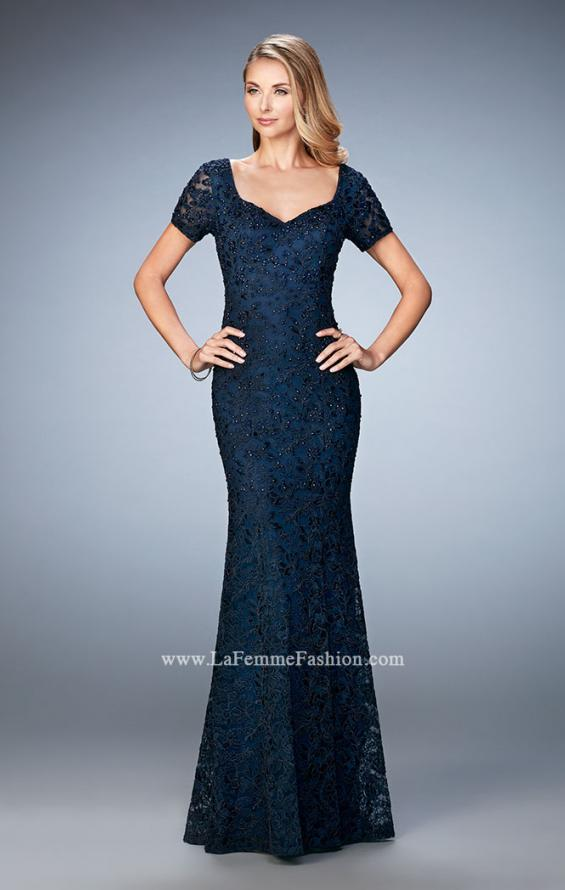 Picture of: Lace Dress with Subtle Embellishments and Short Sleeves, Style: 21657, Detail Picture 3