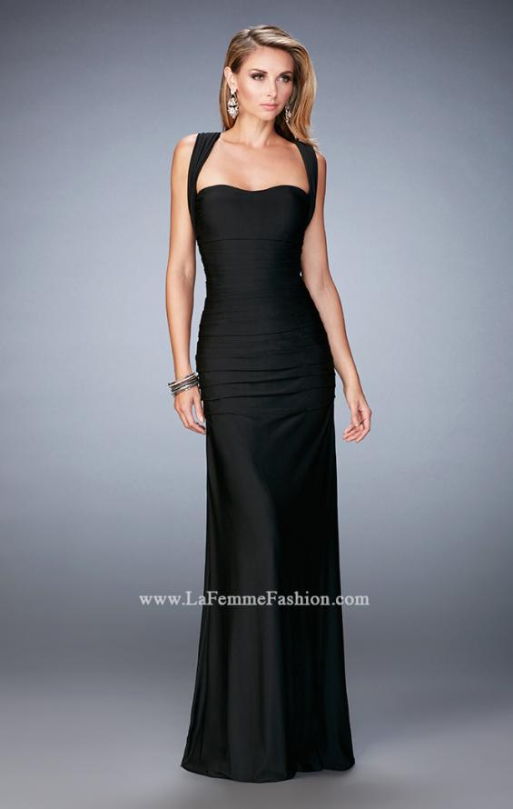 Picture of: Jersey Sheath Gown with Ruching and Scoop Neckline, Style: 21730, Detail Picture 1