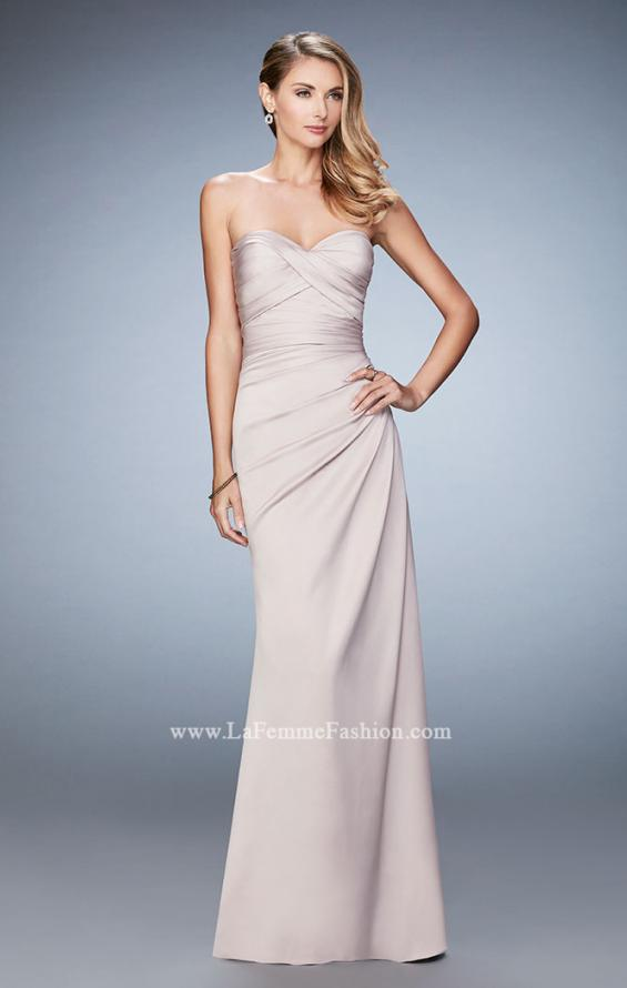 Picture of: Satin Evening Gown with Cropped Lace Jacket in Nude, Style: 21776, Detail Picture 1
