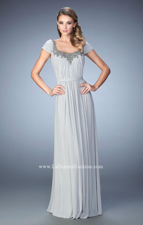 Picture of: Scoop Neck Gown with Cap Sleeves and Beading, Style: 21826, Main Picture