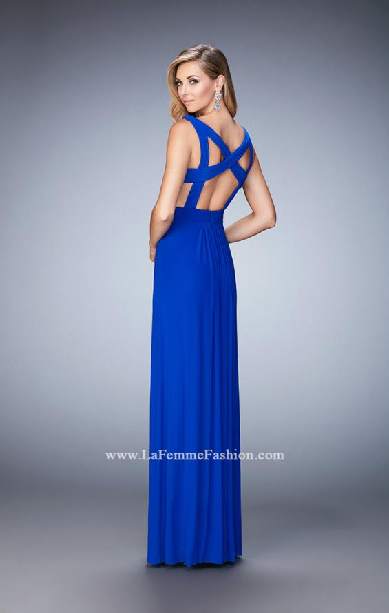 Picture of: Strappy Back Prom Dress with Cut Outs and Gathering, Style: 21889, Main Picture