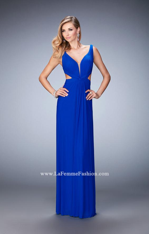 Picture of: Strappy Back Prom Dress with Cut Outs and Gathering, Style: 21889, Back Picture