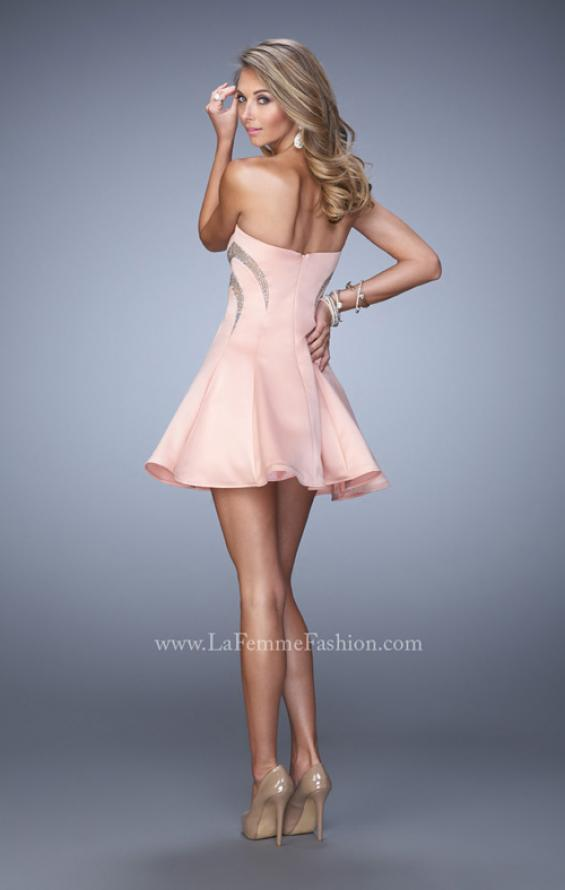 Picture of: Charming Satin Dress with Cut outs and Scattered Stones, Style: 21982, Back Picture
