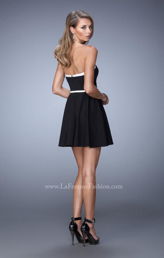 Picture of: Sweetheart Neckline Ling Prom Dress with Bow Belt, Style: 21986, Back Picture
