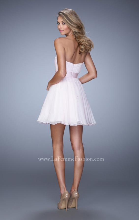 Picture of: Rhinestone Chiffon Prom Dress with Rhinestones in Pink, Style: 21994, Back Picture