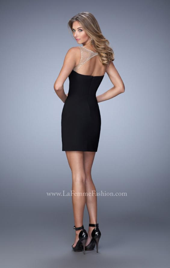 Picture of: Embellished Jersey Dress with Cut Outs Rhinestones, Style: 22021, Back Picture