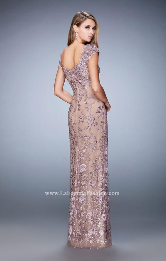 Picture of: Lace Evening Dress with Embellishments and Rhinestones, Style: 22039, Back Picture