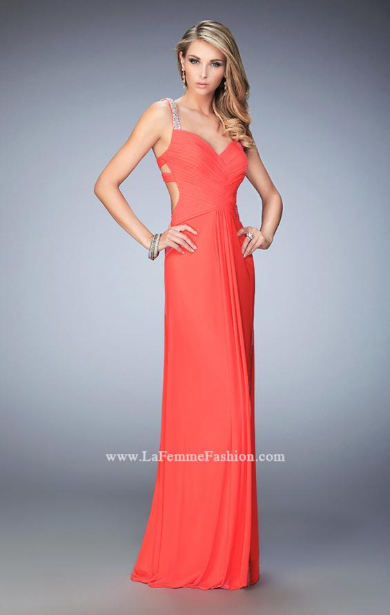 Picture of: Crystal Gem Embellished Prom Gown with Gathering, Style: 22068, Main Picture