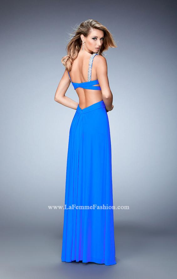 Picture of: Crystal Gem Embellished Prom Gown with Gathering, Style: 22068, Back Picture
