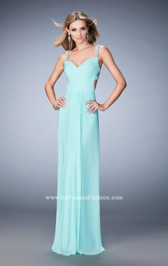 Picture of: Crystal Gem Embellished Prom Gown with Gathering, Style: 22068, Detail Picture 3