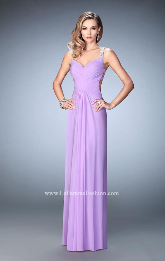 Picture of: Crystal Gem Embellished Prom Gown with Gathering, Style: 22068, Detail Picture 4