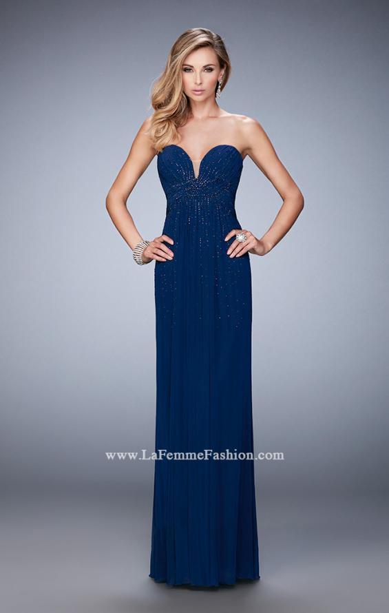 Picture of: Long Prom Dress with Rhinestones and Open Back, Style: 22070, Detail Picture 2