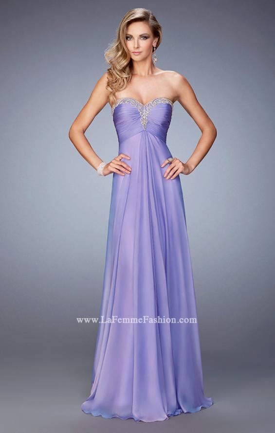 Picture of: Chiffon Prom Dress with Embellishments and Crystals in Purple, Style: 22115, Main Picture