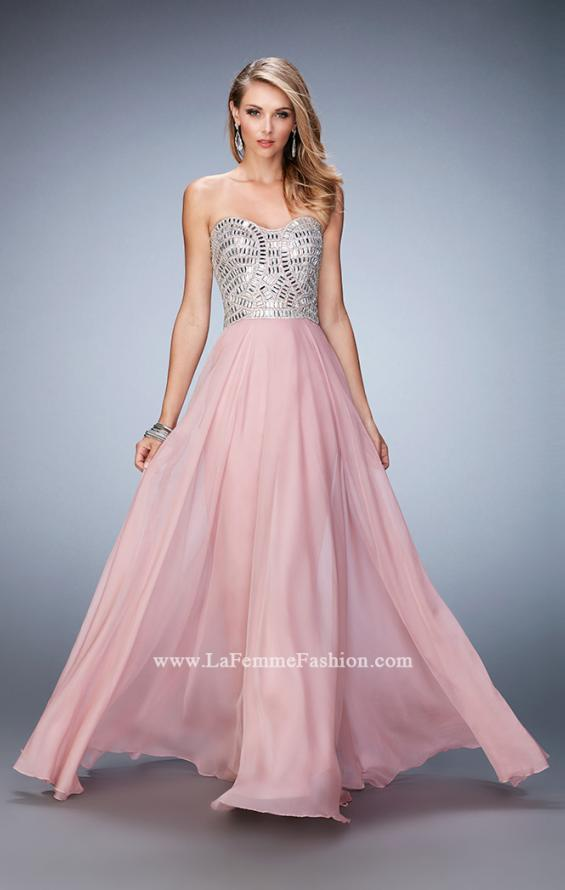 Picture of: Sweetheart Neckline Prom Dress with Sparkling Gems in Pink, Style: 22137, Main Picture